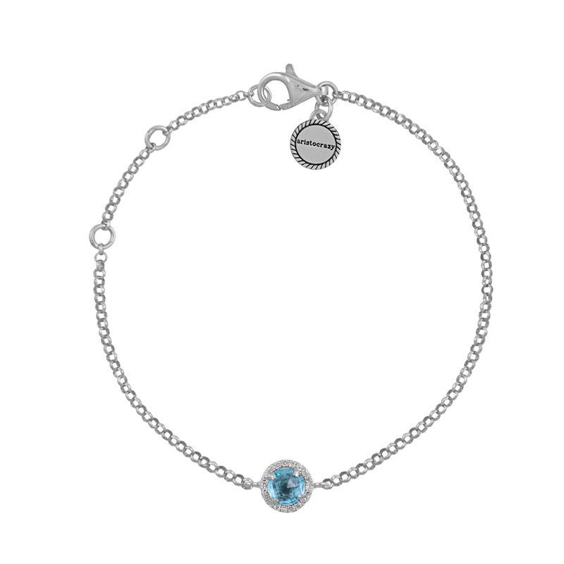 Bracelet topaze bleue et diamants argent, J01487-01-BT, hi-res