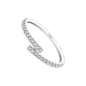 White gold open ring 0.17 ct. diamonds, J04005-01-17, hi-res