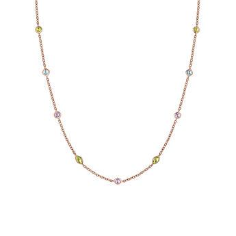Collier mix pierres or rose, J03765-03-AMPESB, hi-res