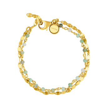 Gold opal double bracelet, J03619-02-GOP, hi-res