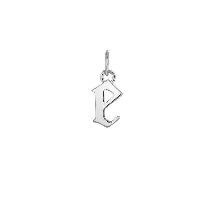 Gothic letter E pendant silver, J04016-01-E, hi-res