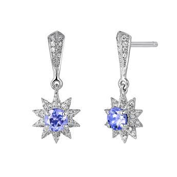 Boucles d'oreilles étoile tanzanite argent, J03720-01-GD-TA, hi-res