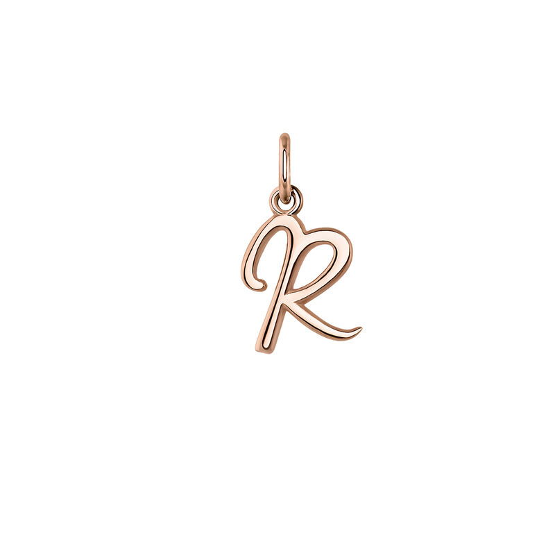 Rose gold plated initial R necklace, J03932-03-R, hi-res