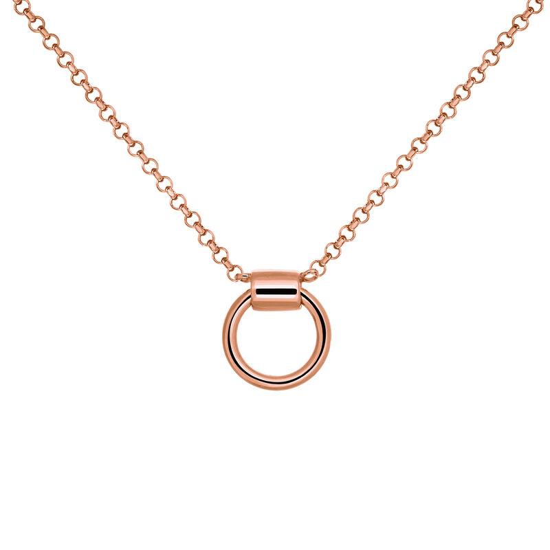 Choker aros plata recubierta oro rosa, J03477-03, hi-res