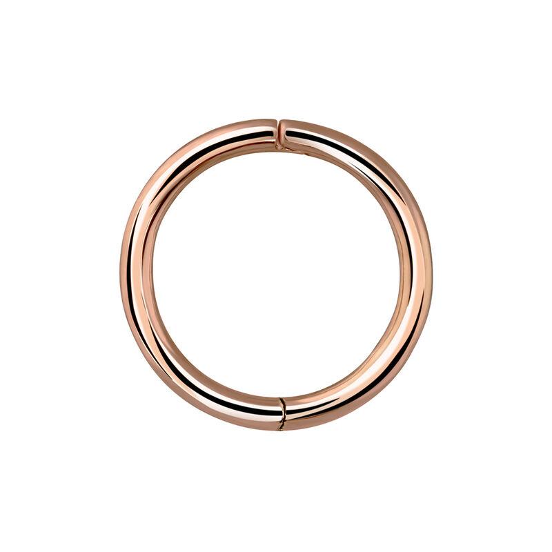 Boucle d'oreille piercing grande créole or rose, J03844-03-H, hi-res