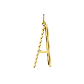 Large gold plated initial A, J04642-02-A, hi-res