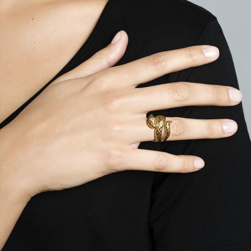 Gold open snake ring, J00305-02, hi-res