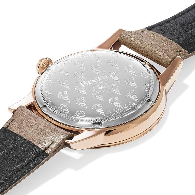 Montre Brera bracelet cuir cadran blanc, W44A-PKPKWH-LEBG, hi-res