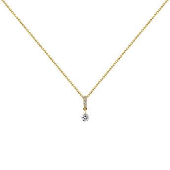 Gold diamonds necklace, J04431-02, hi-res