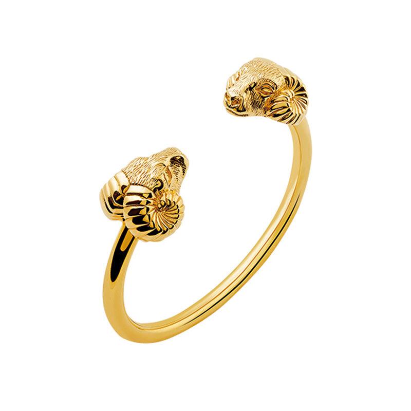 Gold Marco Polo rigid bracelet, J03085-02, hi-res