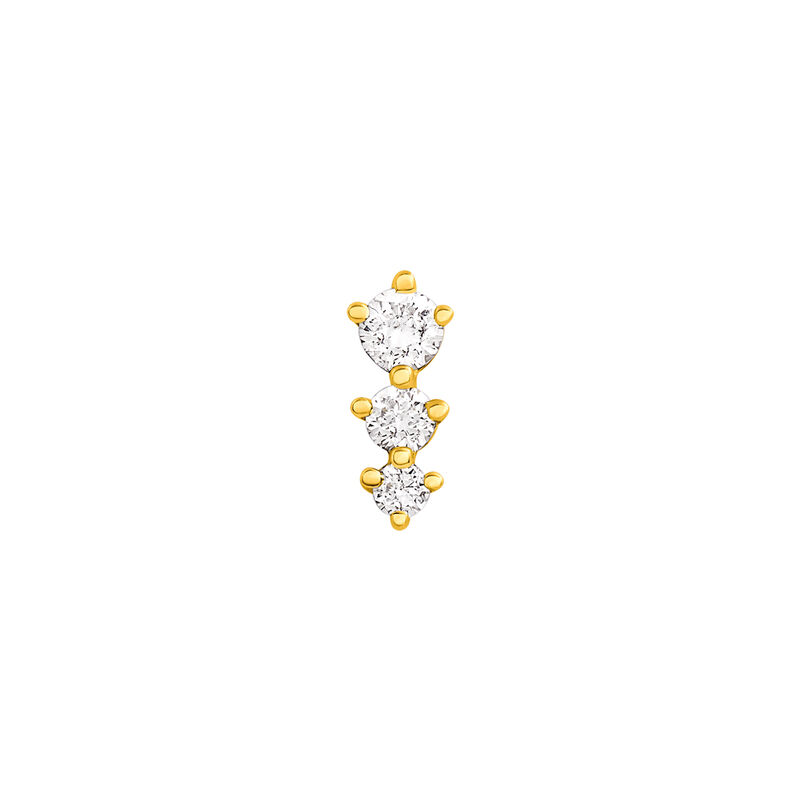 Boucle d'oreille triangles diamants or 0,055 ct, J03356-02-H, hi-res