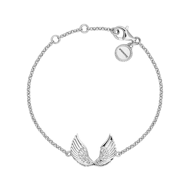 Silver wings bracelet, J04302-01, hi-res