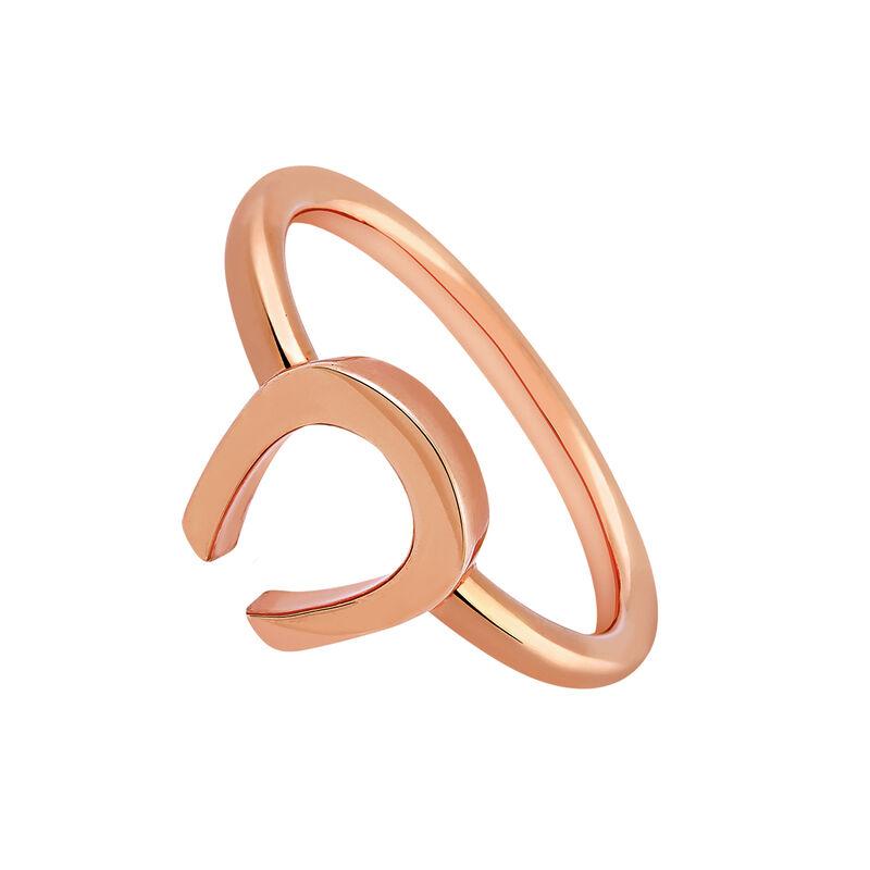 Anillo herradura oro rosa, J03140-03, hi-res