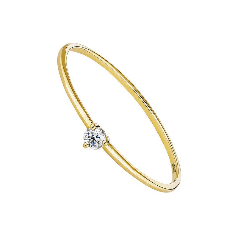 Anillo solitario diamante 0,048 ct oro
