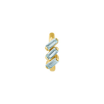 Gold plated topaz hoop earring, J04650-02-SKY-H, hi-res