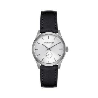 Reloj Hamptons correa negra, W36A-STSTGR-LEBU, hi-res
