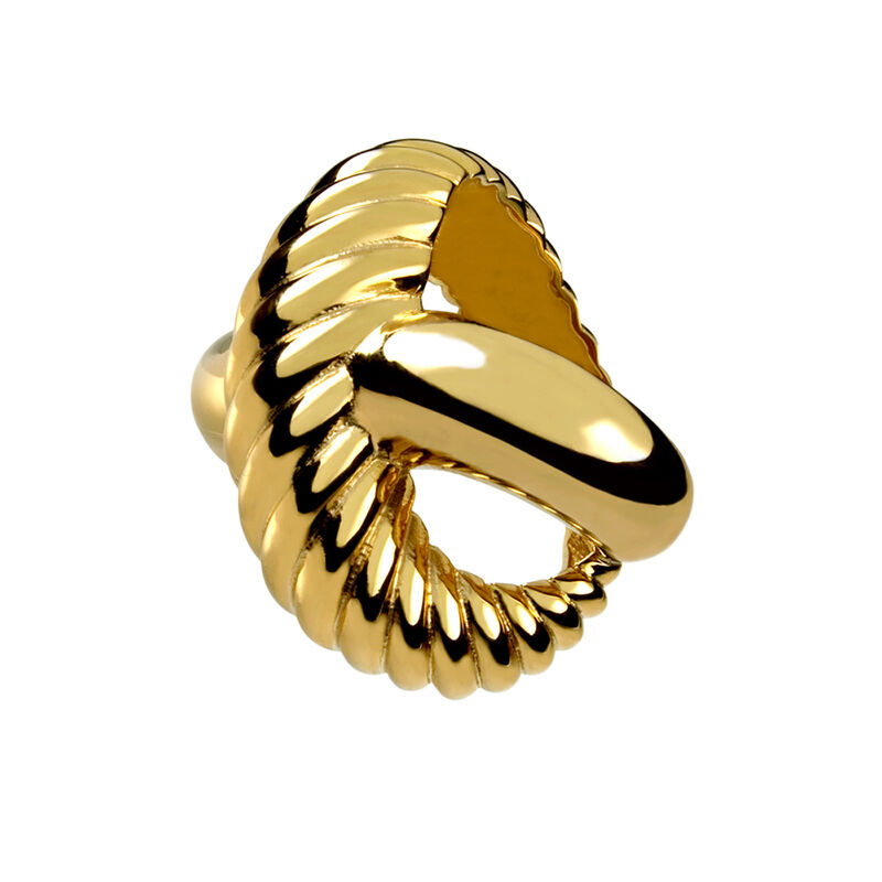 Anillo cruz liso y gallón oro, J00224-02-NEW, hi-res