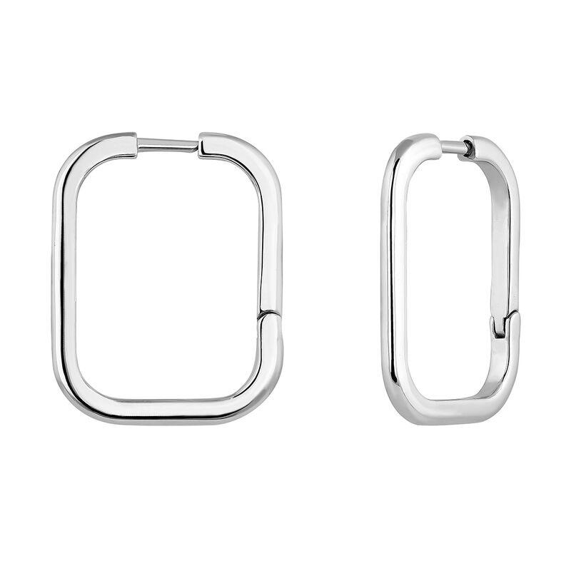 Big squared silver earrings, J04645-01, hi-res