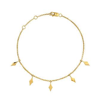 Gold bracelet with rhombuses, J04013-02, hi-res