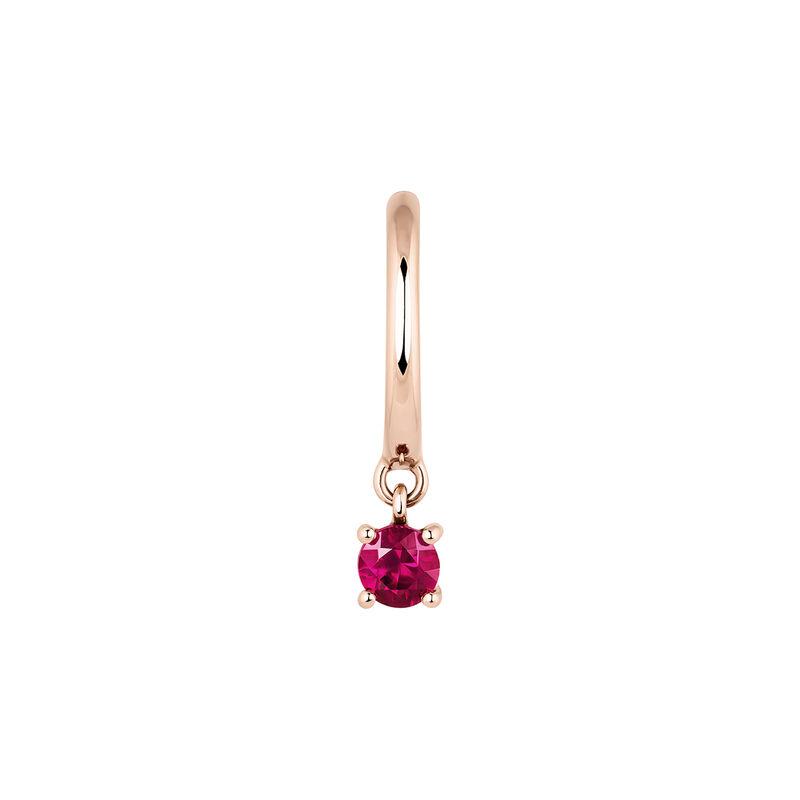 Hoop earring rubi rose gold, J04074-03-RU-H, hi-res