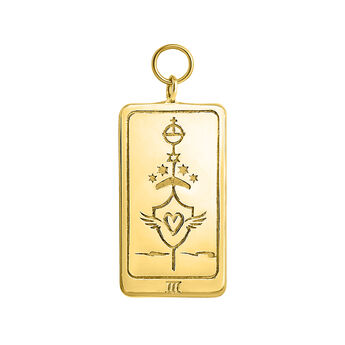 Gold plated L'ImpŽratrice card pendant, J04040-02, hi-res