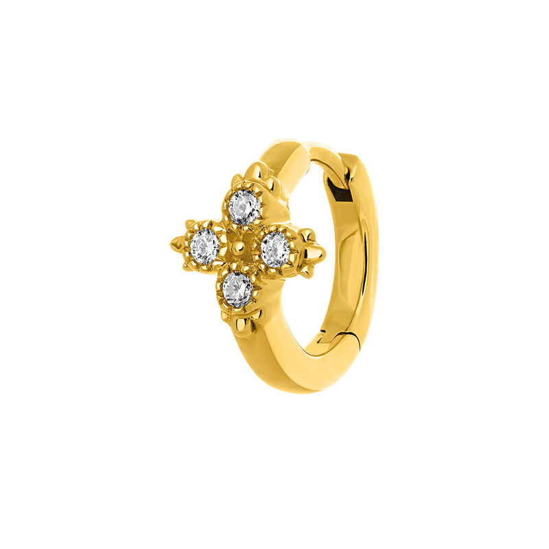 Gold diamonds hoop earring 0.033 ct, J03386-02-H, hi-res