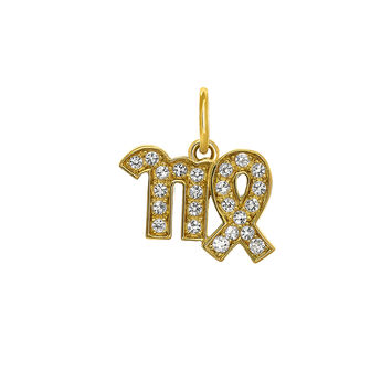 Virgo gold pendant, J03604-02-WT, hi-res