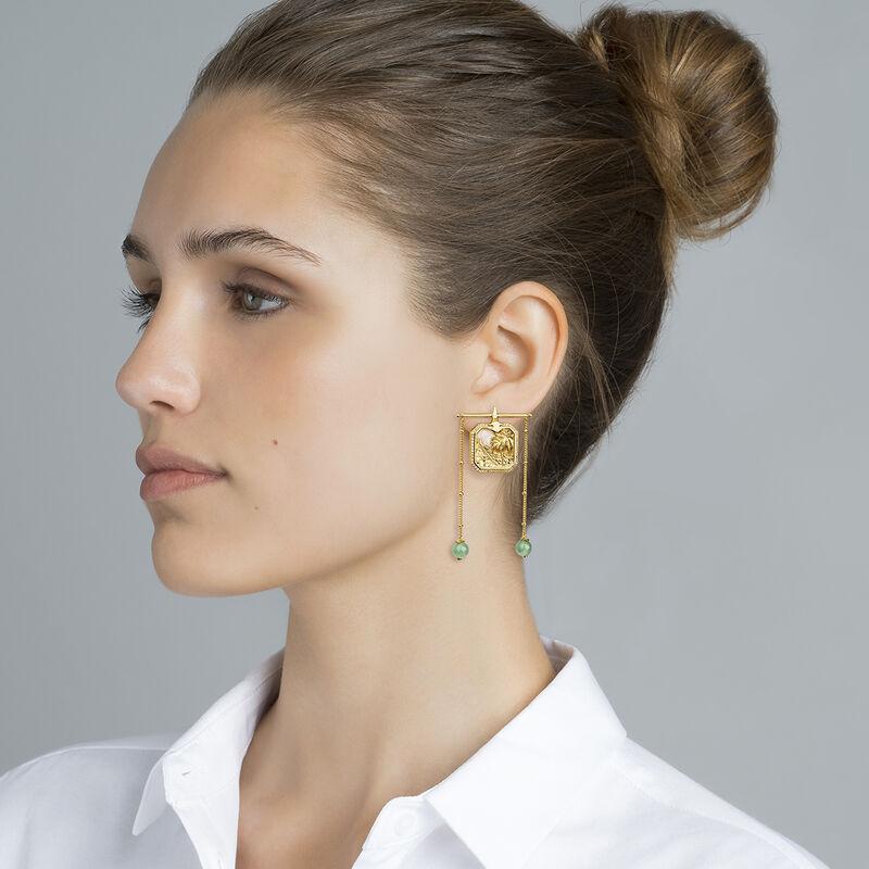 Boucles d'oreilles pendentif nacre plaqué or, J04279-02-WT-MOP-GAV, hi-res