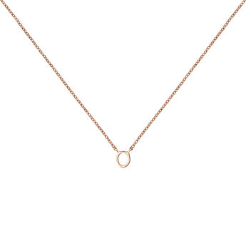 Collar inicial O oro rosa, J04382-03-O, hi-res