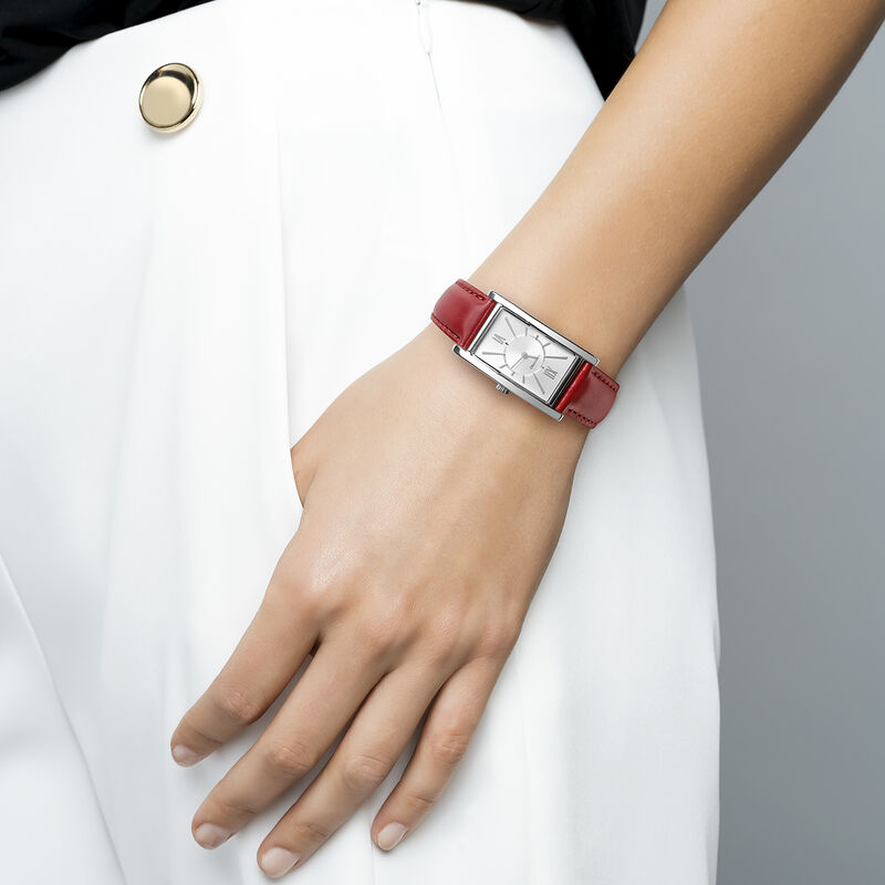 Le Marais watch red strap, W47A-STSTGR-LERE, hi-res