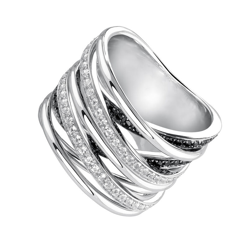 Large silver multi-band ring, J03662-01-BSN-WT, hi-res