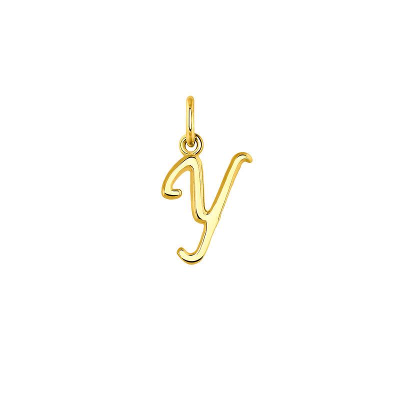 Colgante inicial Y plata recubierta oro, J03932-02-Y, hi-res