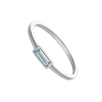 Silver ring with blue topaz, J03699-01-SB, hi-res