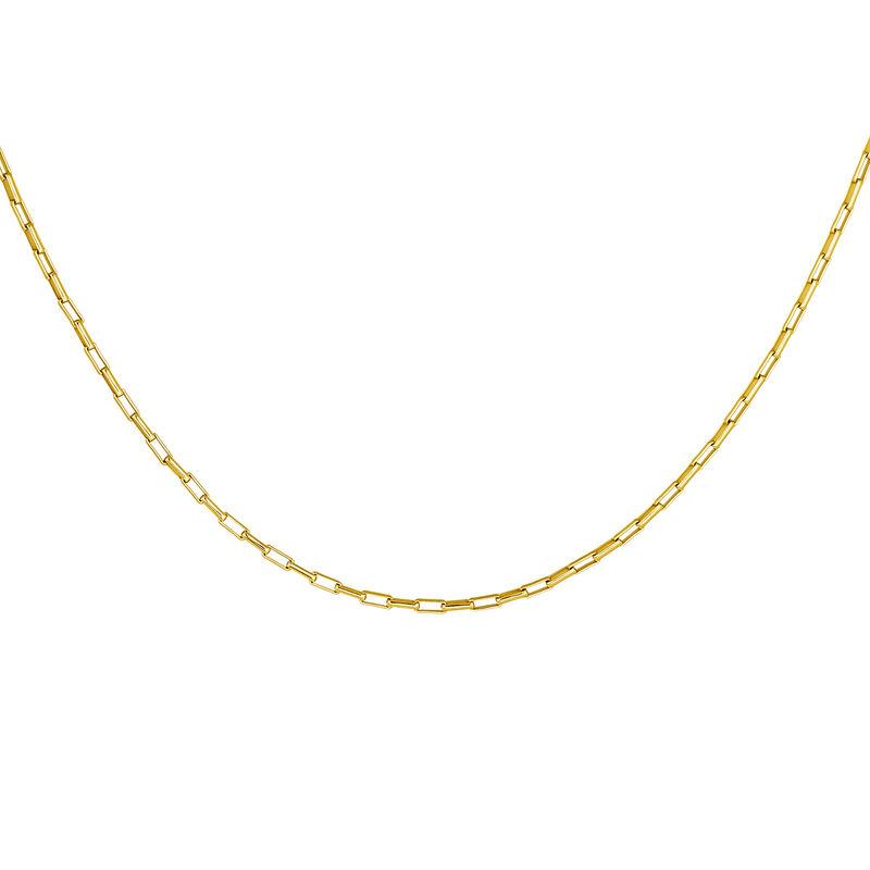 Chaîne à maillons carrés en argent plaqué or, J04615-02, hi-res