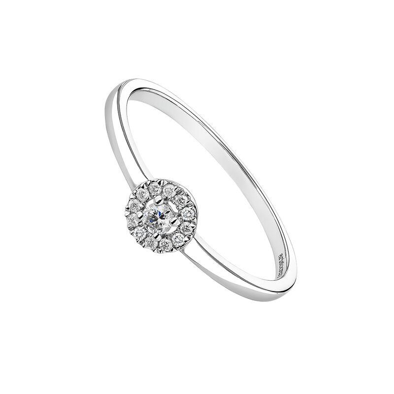 White gold ring edging diamond 0,05 ct, J04222-01-05-05, hi-res