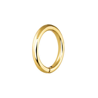 Medium gold hoop earring piercing, J03843-02-H, hi-res