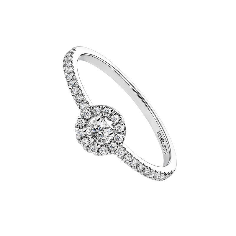 Anillo orla oro blanco diamantes 0.17 ct, J04223-01-10-17, hi-res