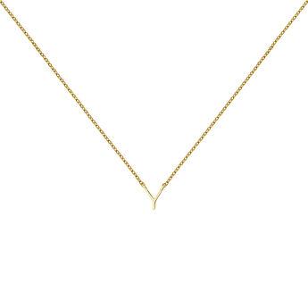 Collar inicial Y oro9 kt, J04382-02-Y, hi-res