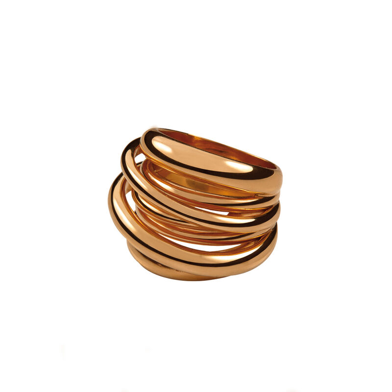 Rose gold multi-band ring, J00795-03, hi-res