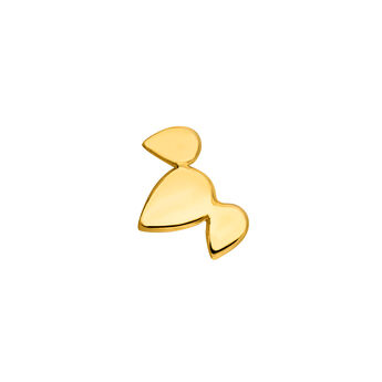 Gold plated silver leaf earring, J04818-02-H, hi-res