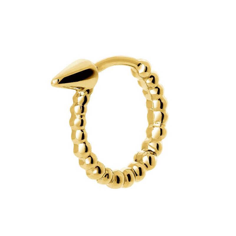 Pendiente piercing aro esferas oro, J03847-02-H, hi-res