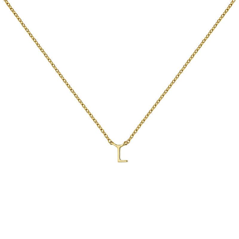 Collier initiale L or, J04382-02-L, hi-res