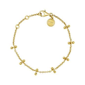 Gold plated silver piercing bars bracelet, J04327-02, hi-res