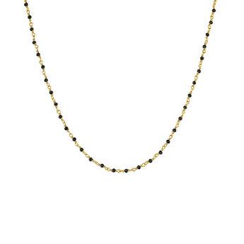 Collar espinelas negras plata recubierta oro, J04880-02-BSN, hi-res