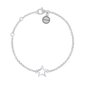 Bracelet étoile creuse argent, J01373-01, hi-res