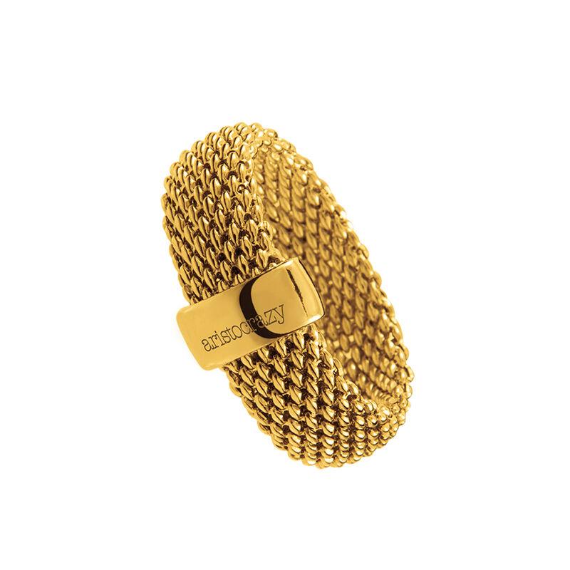 Anillo fino malla oro, J01281-02, hi-res
