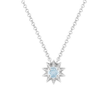 Collier topaze bleue et diamants, J03308-01-SKY-SP, hi-res