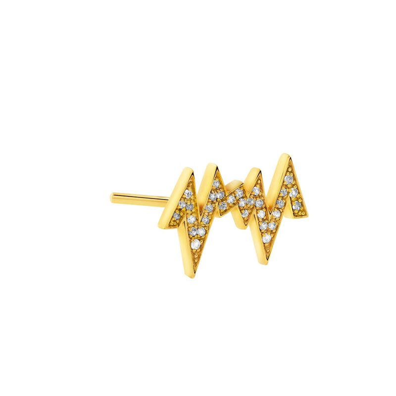 Pendiente izquierdo rayo topacio oro, J03806-02-WT-L, hi-res