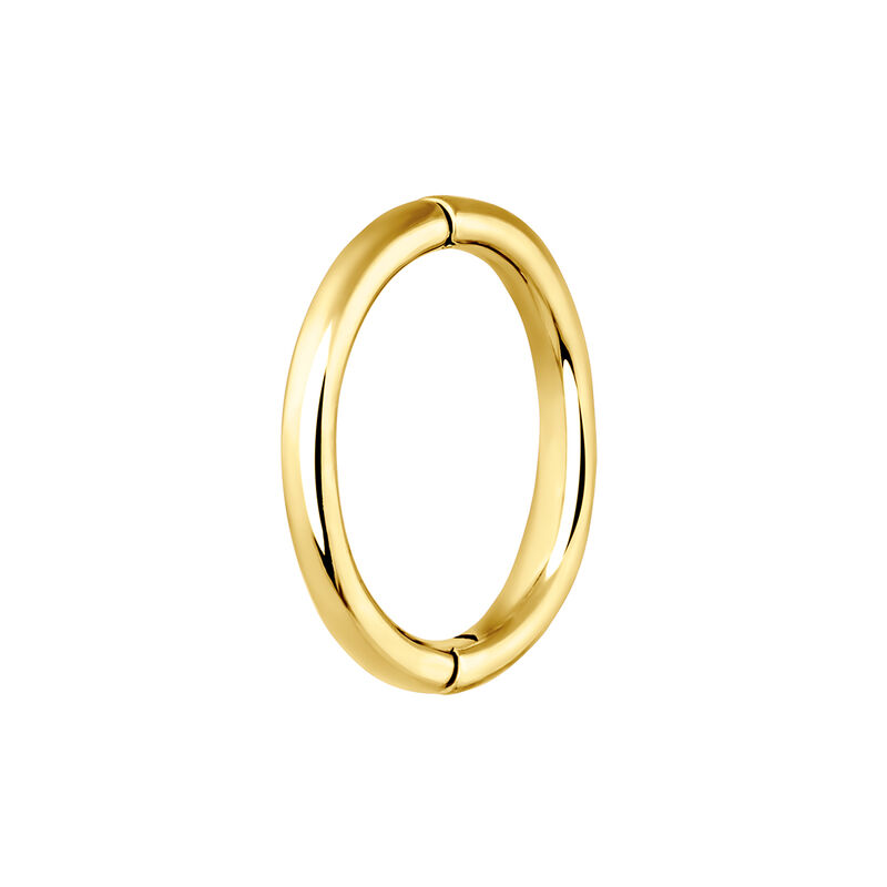 Large gold hoop earring piercing, J03844-02-H, hi-res