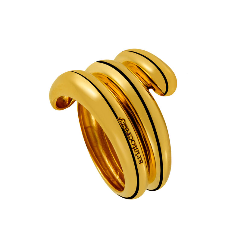 Anillo enroscado triple oro, J01440-02, hi-res